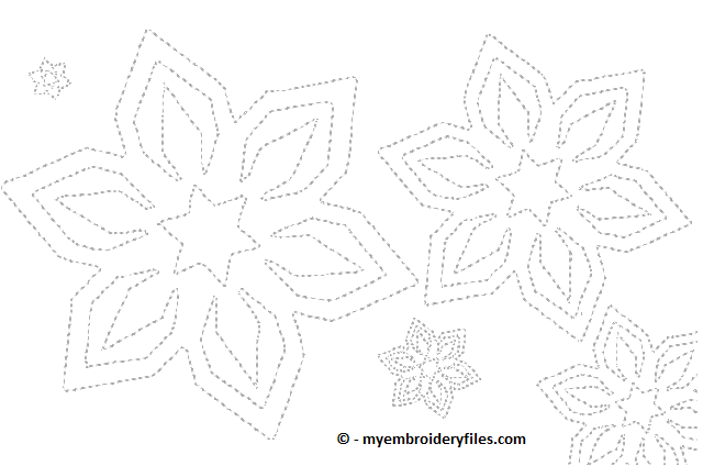 Snowflakes - myembroideryfiles.com