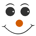 Free embroidery design: Comic face snowman