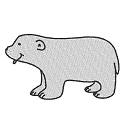 Free embroidery design: Cheecky polar bear