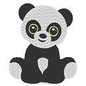 Free embroidery design: Cute panda