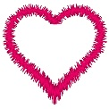 Free embroidery design: 	Heart - Random satin stitch