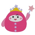 Free embroidery design: 	Roly-poly fairy